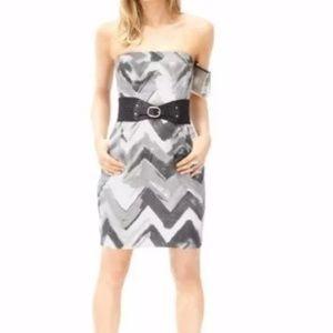 Banana Republic Chevron Print Straplesses Dress